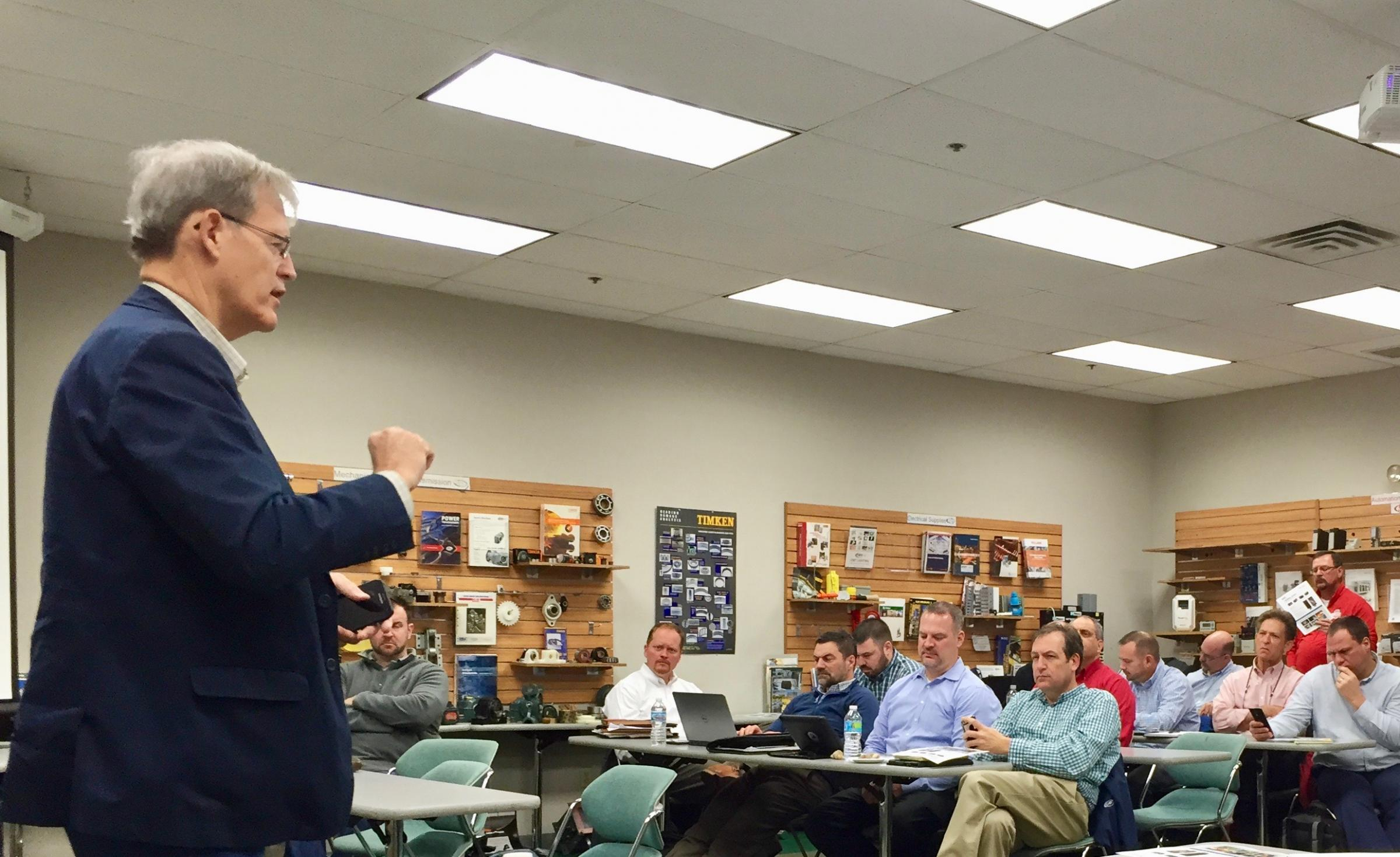 Terry Clausing Conducting a Training Session in Classroom
